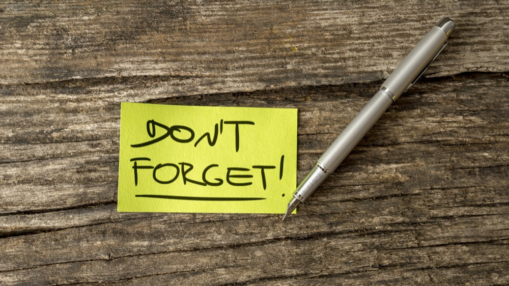 Don't forget maintenance tasks